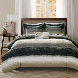 Seth Striped Complete Multiple Piece Comforter Set (California King) 9-Piece