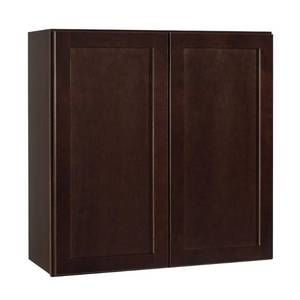 Hampton Bay Shaker Assembled 30x30x12 in. Wall Kitchen Cabinet in Java.Retail Price $170