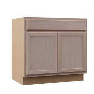 Hampton Bay Hampton Assembled 36x34.5x24 in. Base Kitchen Cabinet in Unfinished Beech