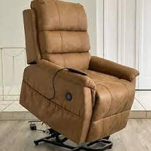 brown massage and lift chair with lie/fl brown