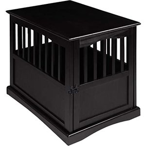 Casual Home Pet Crate End Table w/ Lockable Latch for Medium Sized Pets, Black {Retail $221.99}