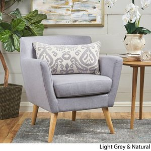 Grey- Meena Buttoned Mid Century Modern Fabric Club Chair by Christopher Knight Home Retail:$214.99