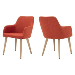 Alistair Mid-Century Fabric Dining Chair (Set of 2) by Christopher Knight Home- Retail:$231.99