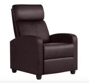 Recliner Chair PU Leather Single Living Room Sofa Recliner- Retail:$195.99