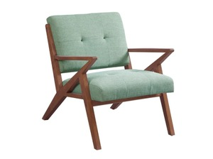 Carson Carrington Mustvee Seafoam/ Pecan Lounger Arm Chair- Retail:$303.48