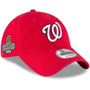 Washington Nationals New Era 2019 World Series Champions Sidepatch 9TWENTY Adjustable Hat - Red