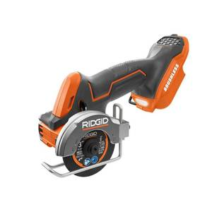 RIDGID 18-Volt SubCompact Lithium-Ion Cordless Brushless 3 in. Multi-Material Saw (Tool Only)