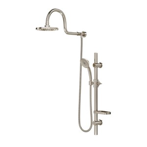 Grey- AquaRain Showerhead System with Hand Sprayer- Retail:$258.99