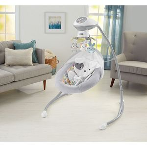 Fisher-Price Sweet Snugapuppy Dreams Cradle 'N Swing, Dual Motion Baby Swing