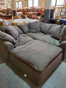 Sunset Trading Cloud Puff Sectional, 4 Piece Slipcovered Modular Sofa MSRP $3,498