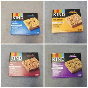 Lot of 4 Boxes of Kind Bars