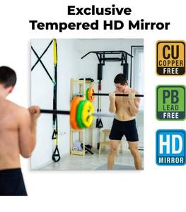 "Fab Glass and Mirror GM36x60 HD Tempered Glass Mirror for Gym & Dance Studio, 48"" x 84"", Clear Retails Over $700!"