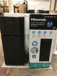 Hisense 4.4-cu ft Freestanding Mini Fridge Freezer Compartment (Black Stainless Steel)