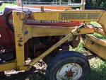 International 454 Tractor w/ Freeman 2000 bucket lift, PTO, 3pt hitch running