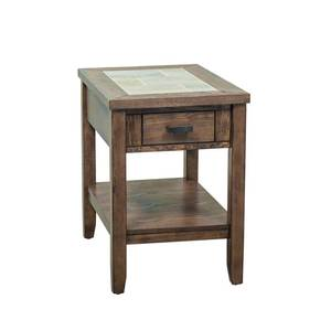 Mesa Valley Tobacco Ceramic Tile Top End Table