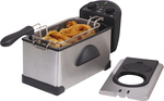 Elite Gourmet 3.5QT Immersion Deep Fryer w/ Timer & Temp Knob