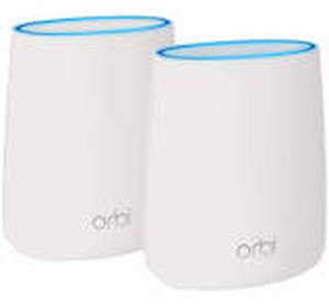 NETGEAR Orbi Tri Band Mesh WiFi Systems  2 PACK