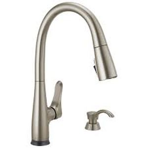 Delta Dunsley Touch2o VoiceIQ Pull Down Kitchen Faucet