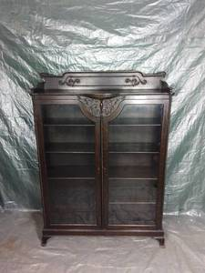 Dark Wooden China Cabinet - 8 Shelves - Few Pegs Missing - As Pictured