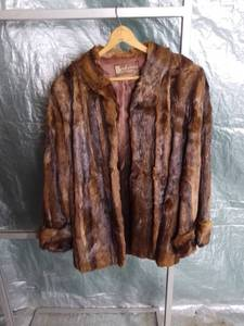 Berksons Kansas City Guildcraft Soft Brown Fur Coat with Silk Lining on Inside
