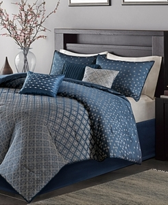 Home Essence Hudson 7-Piece Jacquard Comforter Bedding Set