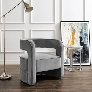 Carmelo Open Back Accent Chair - Grey Retail $481.49
