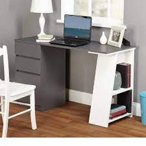 Simple Living Como Modern Writing Desk- Retail:$168.99 grey and white