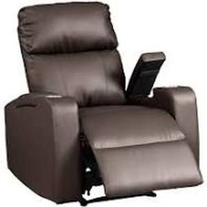 Modern Terry Upholstered faux leather recliner chair espresso