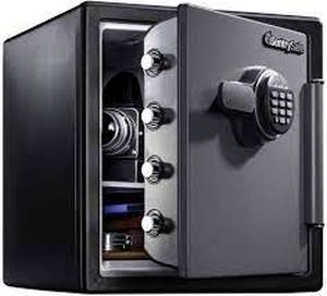 sentysafe xl combination safe small dent on corner as is
