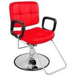 red barber chair red