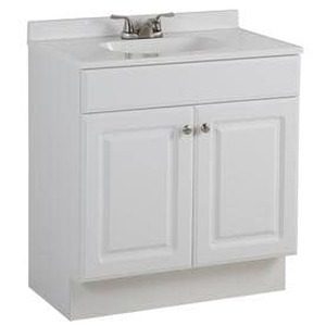 Project Source White Single Sink Vanity with White Cultured Marble Top