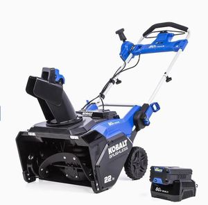 "Kobalt 80v Max 22"" Single-stage Cordless Snow Blower- Retail:$599.00"