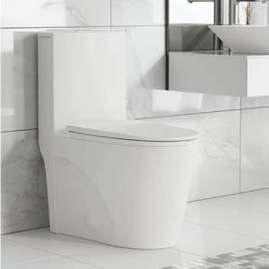 Swiss Madison Sm-1T254 St. Tropez 0.8-1.28 Gpf One-Piece Elongated Dual Flush To - White