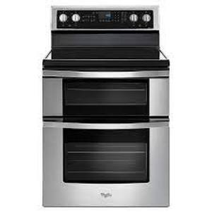 Stainless Steel 6.7 Cu. Ft. Electric Double Oven Range