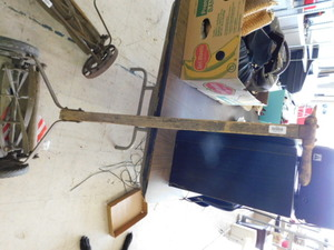 Vintage rotary lawn mower with handle
