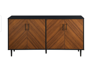 Carson Carrington Cassandra Modern Two-tone Bookmatch Buffet - Black / Acorn Bookmatch. $319.99 Retail