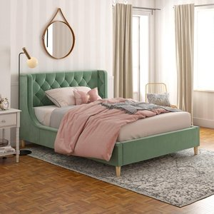 (BOX 2 OF 2 ONLY) Little Seeds Monarch Hill Ambrosia Full Size Upholstered Bed- Retail:$606.49