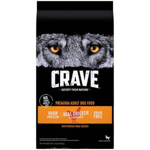 Crave Grain Free High Protein with Protein From Chicken Adult Premium Dry Dog Food - 22lbs