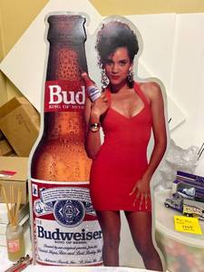 Budweiser tin sign 1992