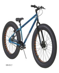 "Dynacraft 26"" Mens' Krusher Fat Tire Bike blue and black"