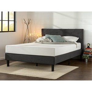Zinus Shalini Upholstered Diamond Stitched Platform Bed / Mattress Foundation / Retail: $218.50