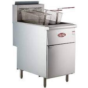 Retails: $1019.00 70 - 100 Lb. Commercial Restaurant Natural Gas Stainless Steel Floor Deep Fryer
