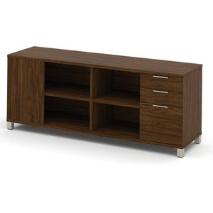 Bestar Pro-Linea Credenza with 3 Drawers