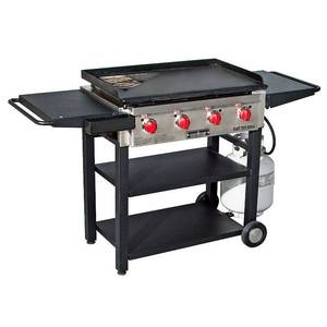 Camp Chef Grill, Four 12,000 BTUs/Hr. stainless steel Burners - Box 1 of 2 Only