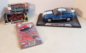 4 Die-cast Ford Mustangs