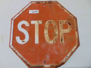 Metal Embossed Stop Sign