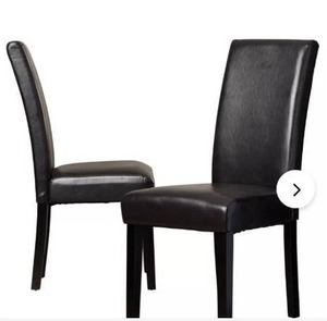 (4) Dining Table Chairs, Faux Leather/ Metal