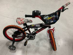 "14"" Hot Wheels Boys BMX Street Bike with Hand Brake that lights up/makes sounds (Pedals/chain need some TLC to work properly)"