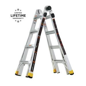Gorilla Ladders 18 ft. Reach MPXA Aluminum Multi-Position Ladder with 300 lbs. Load Capacity Type IA Duty Rating