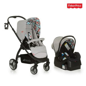 Fisher Price Go-Guardian Oxford Travel System - Gumball Grey